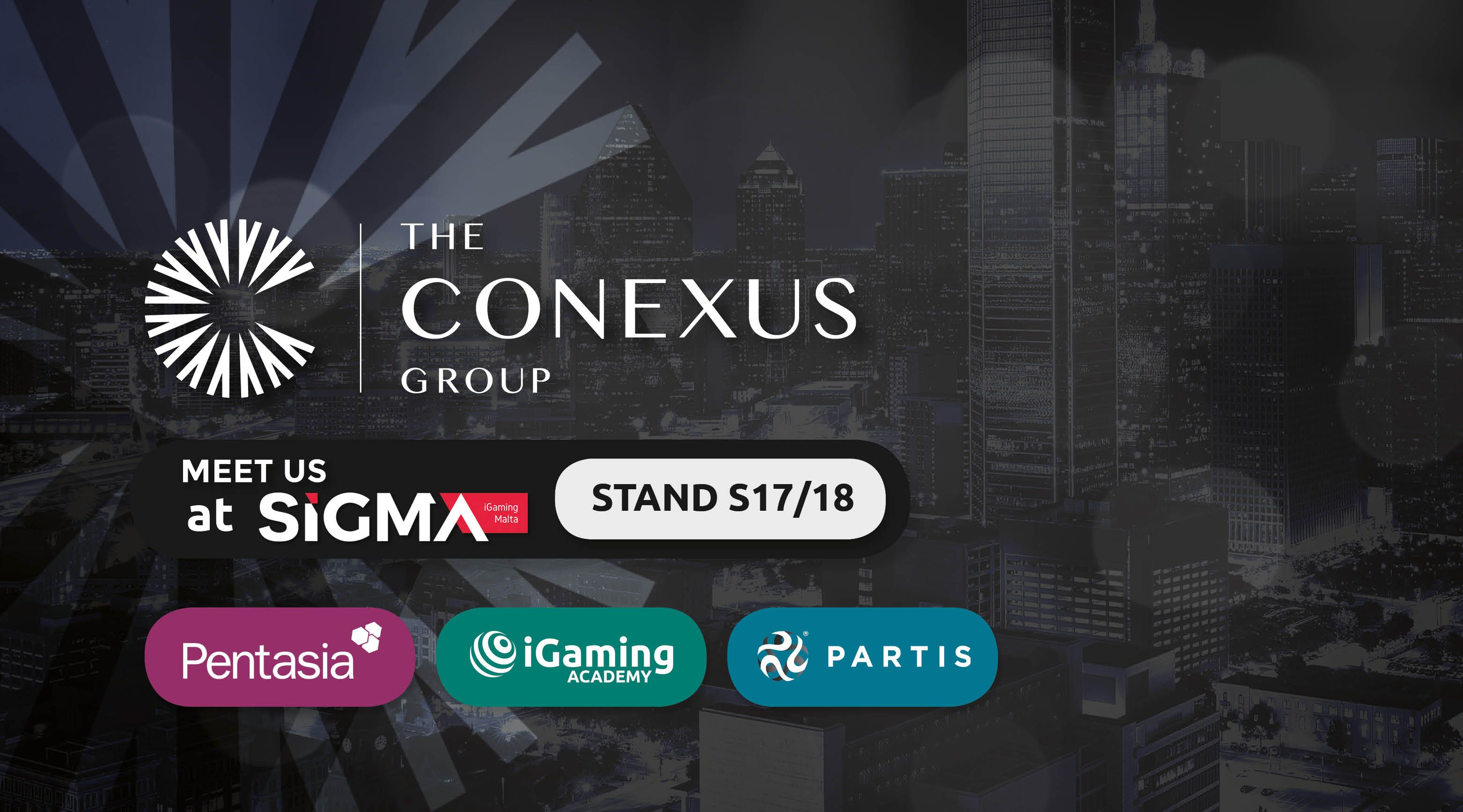 The Conexus Group at SiGMA 2019: Meet Pentasia, iGaming Academy & Partis At Stand S17