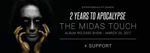 2 Years To Apocalypse to release 'The Midas Touch', Melkweg releaseshow