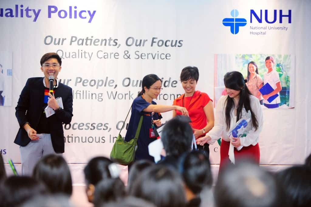 Launch of National University Hospital NUH Quality Policy, with Emcee Singapore, Melvin Ho
