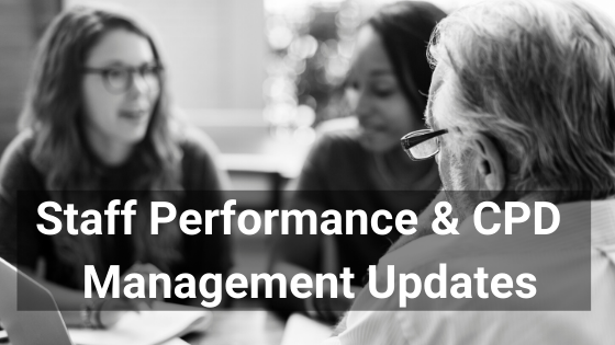 Staff Performance Management Updates