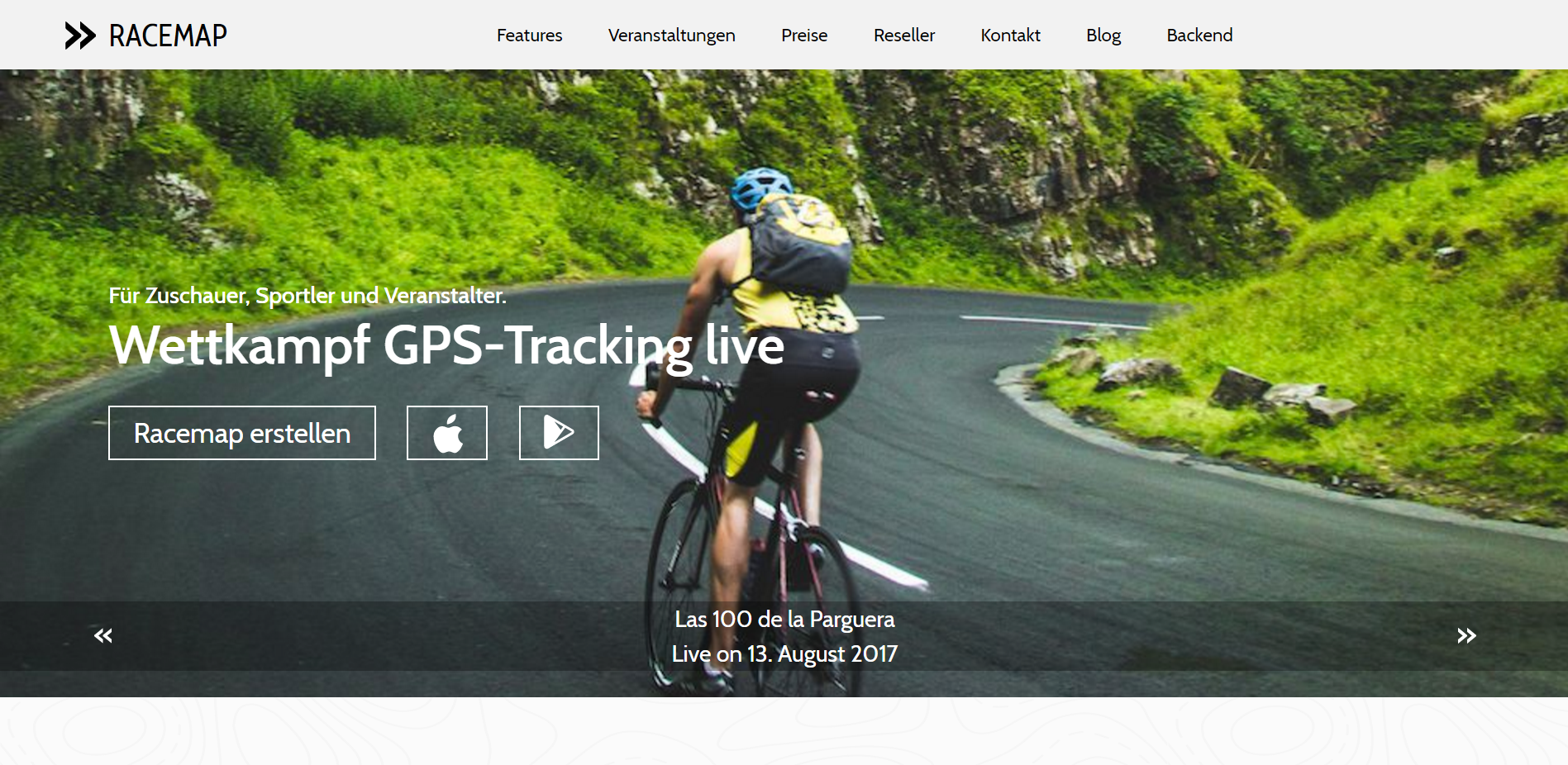 Fresh design for Racemap sports tracking portal