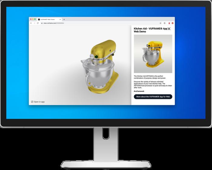 SmartVu® running in a browser via the Vuframe® Web App