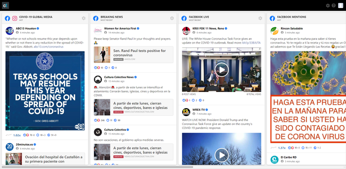Просмотр постов в социальных сетях используя CrowdTangle