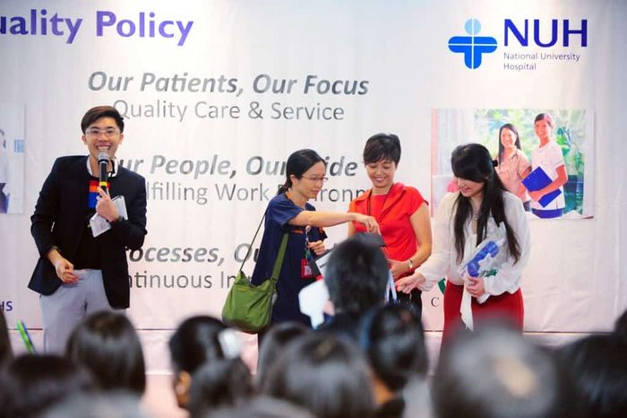 NUH Quality Policy Roadshow | Emcee in Singapore Melvin Ho | EmceeMelvin.com | Lucky Draw 1