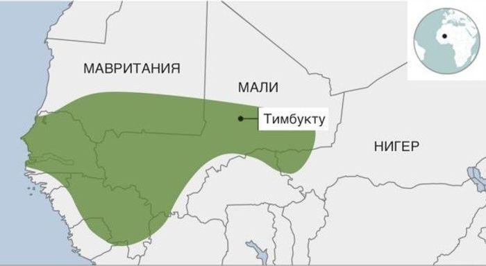 Імперія Малі (800-1500 рр.) розкинулася на території, що значно перевищувала кордони сучасної однойменної республіки