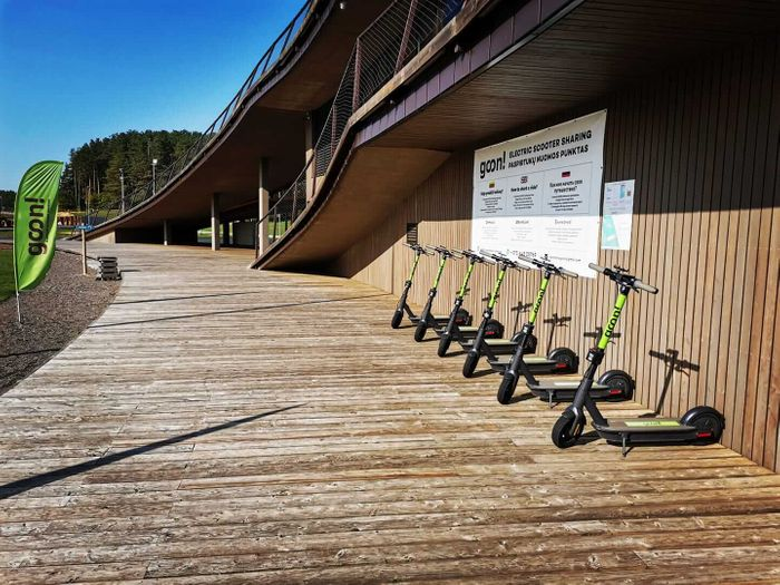 GOON scooters near the lake