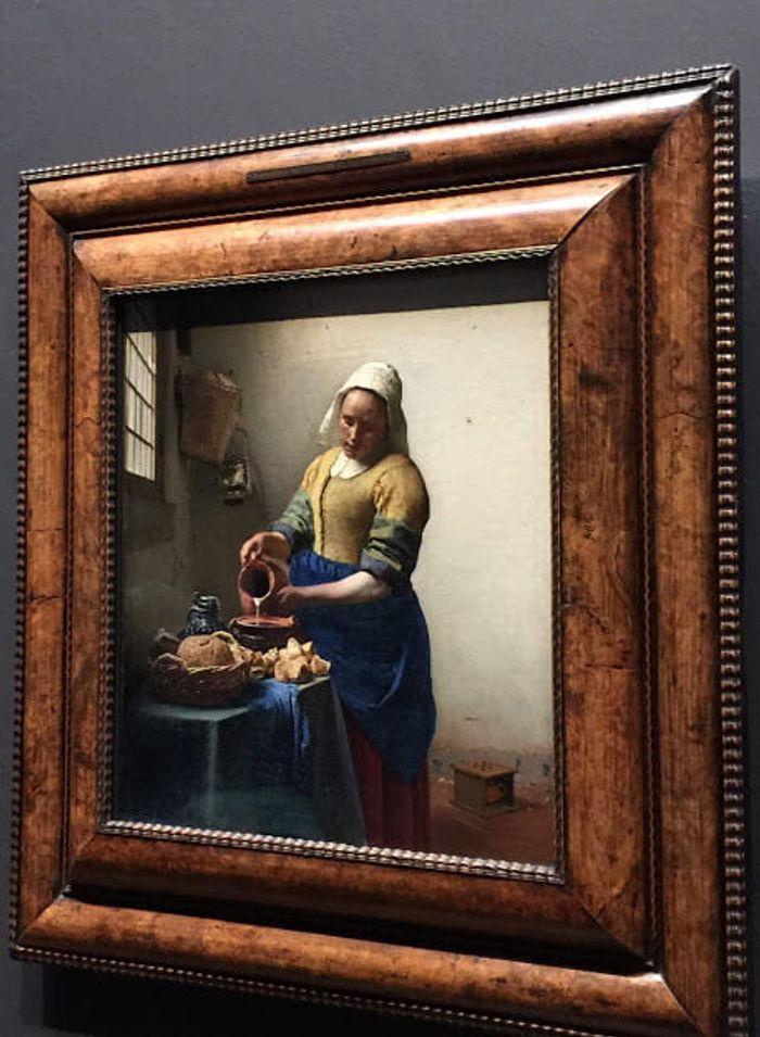 La lechera de Vermeer.
