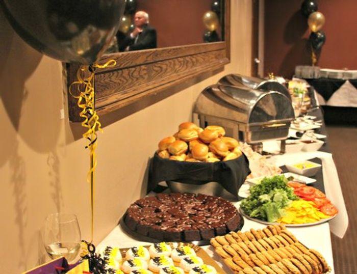Delicious spread of food.