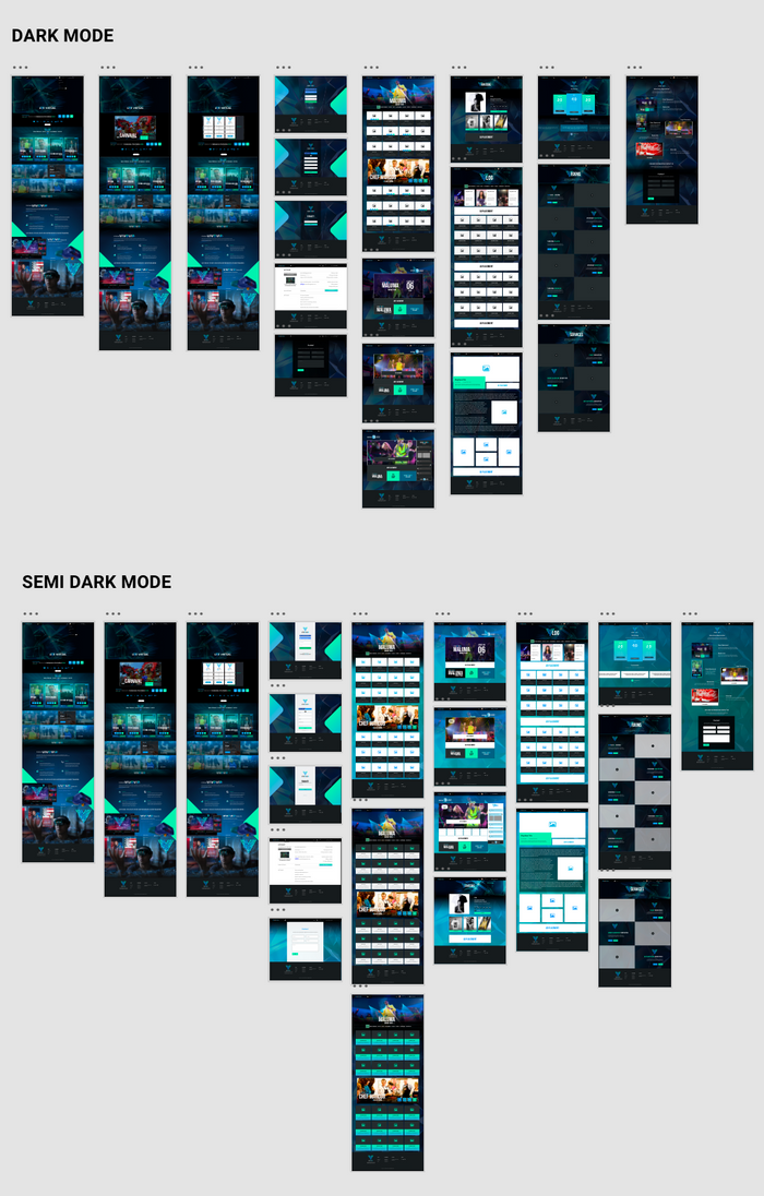 The process in UI Design that our team created using Adobe XD.