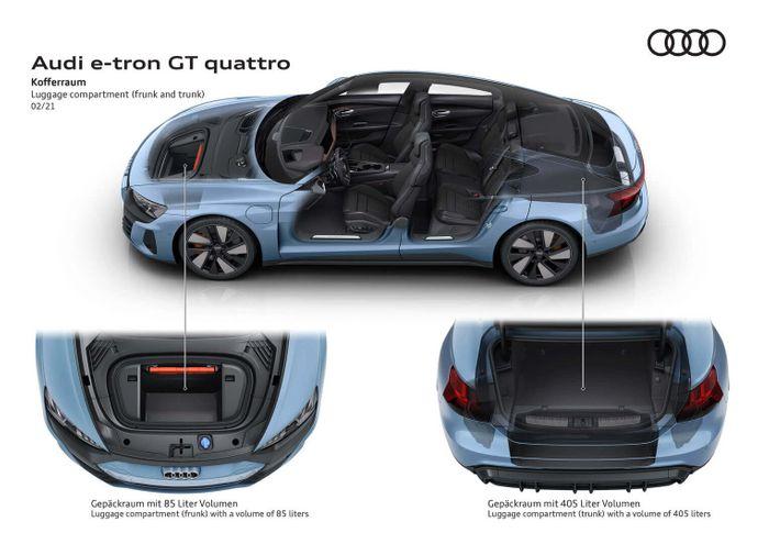Audi e-tron GT получил 2 багажных отделения