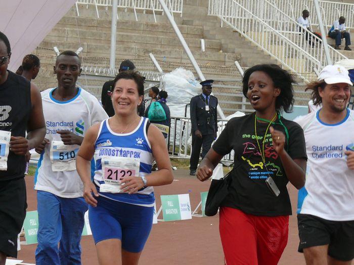 Maratón de Nairobi ¡Bravo Olga! Reto conseguido