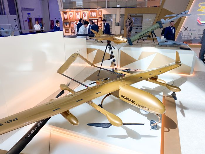 PD-1 VTOL fixed-wing drone and Leleka-100 fixed-wing electric UAV