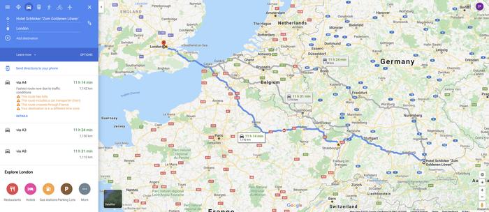 Определение возможного маршрута