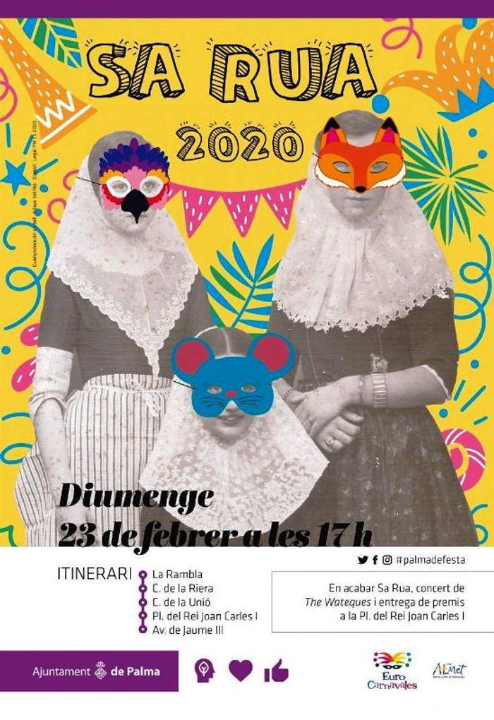 Официальный плакат мерии Пальма де Майорка к проведению карнавала 2020