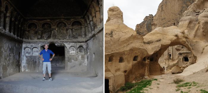 Visita de iglesia primitiva y pueblo troglodita