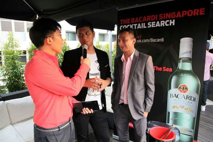 Bacardi Singapore Cocktail Search | Product Launch Media Launch Emcee Singapore | Melvin Ho | Interview Picture