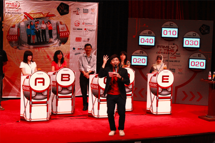 National Family Council Singapore Family Time Odyssey Game Show Qualifiers - Hwa Chong Institution 2 - Emcee Singapore Melvin Ho