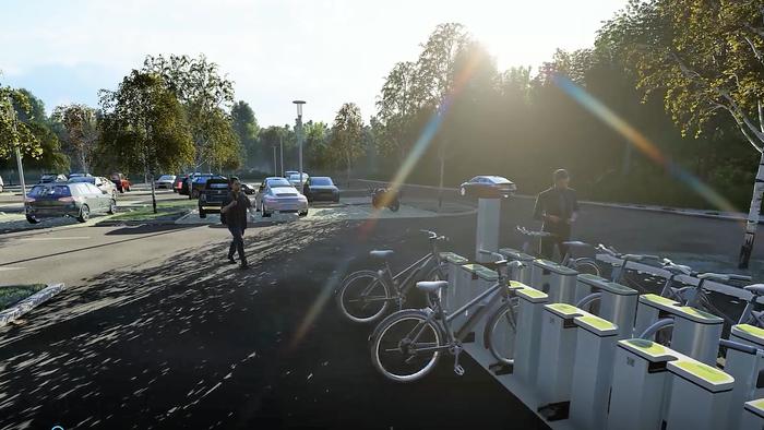 Carpoolparking met e-bike deelsysteem voor het last-mile traject.