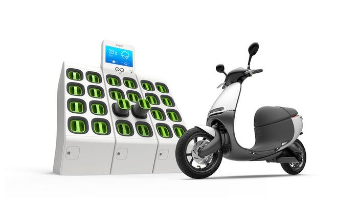 Electric scooter Gogoro with swappable batteries