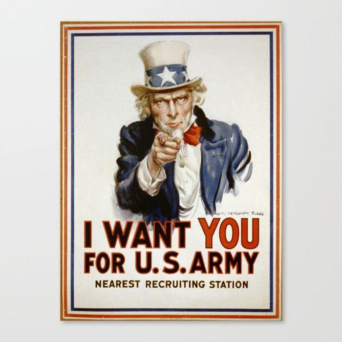 Пропагандистський плакатіз«дядечком Семом»