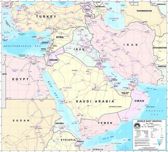 Мапа Середнього Сходу