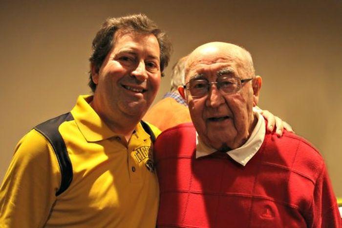Dr. Scott McKnight and his father.Cecil McKnight