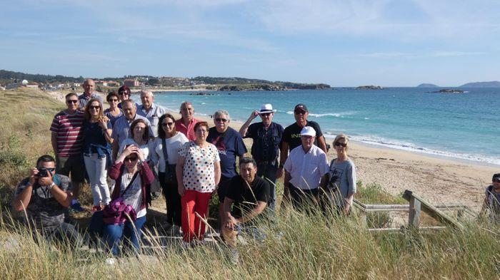 Nuestro grupo disfrutando de las Playas de Galicia