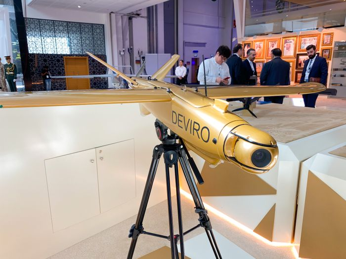 Leleka-100 fixed-wing electric UAV presented in UAE