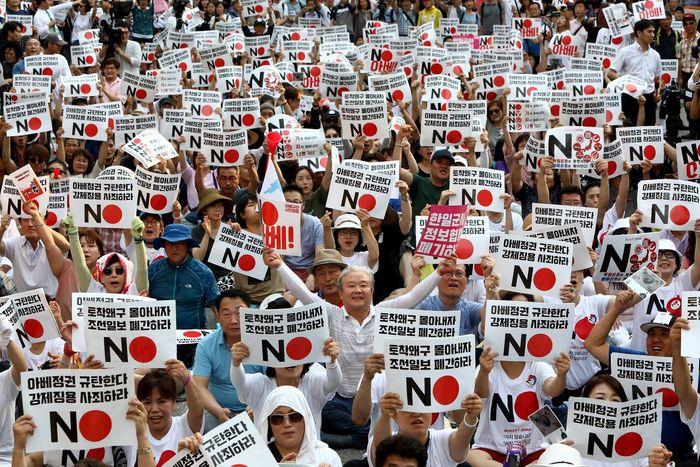 Протести в Сеулі проти рішення Токіо прибрати Республіку Корею з «білого списку»