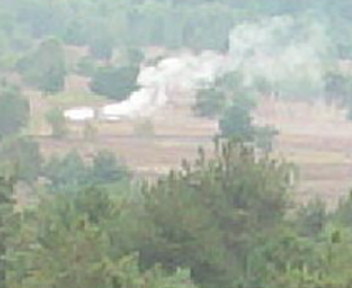 This is a zoomed in image of the fire (after retrieving the image from local storage on the edge). <br>