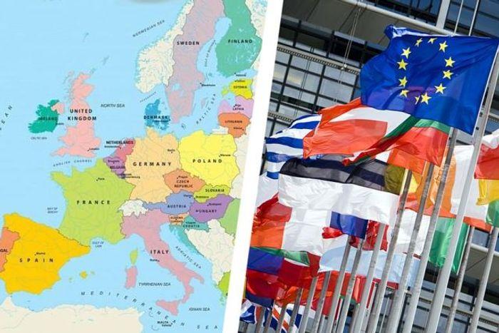 Фото карты стран куда отдых в ЕС откладывается на некоторе время.