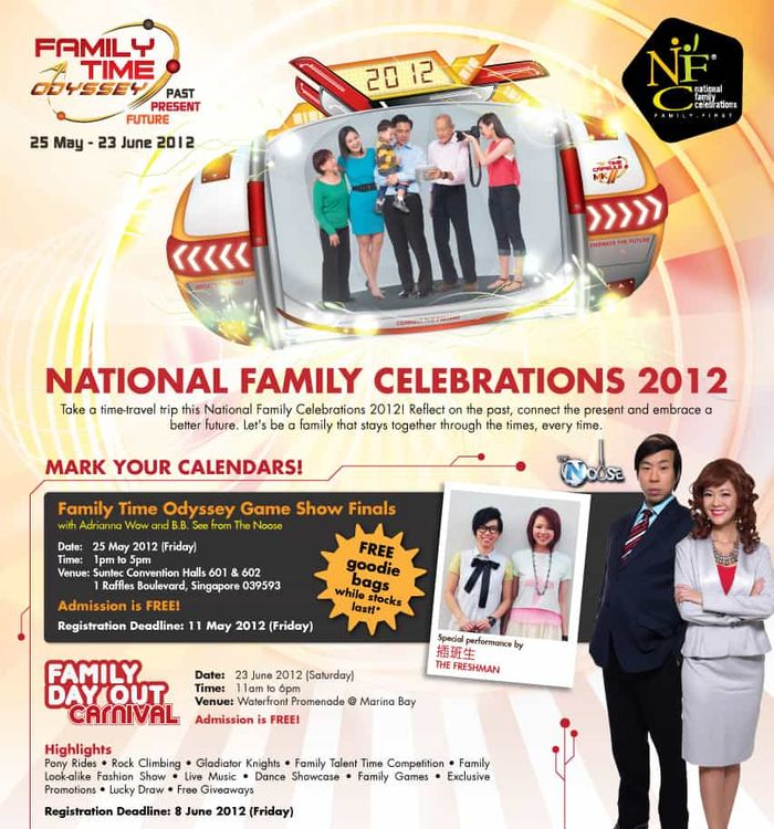 National Family Council Singapore Family Time Odyssey Game Show Qualifiers - Grand Finals Adrianna Wow and BBSee - Emcee Singapore Melvin Ho