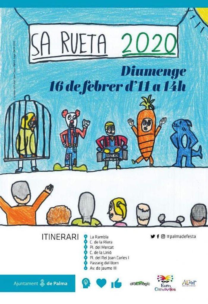 Официальный плакат  мерии Пальма де Майорка к проведениюдетского шествия Са Руета 2020