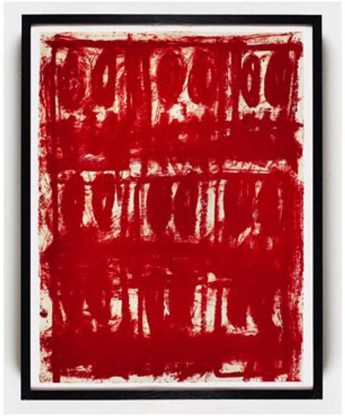 Rashid Johnson, Untitled Anxious Red Drawing, 2020