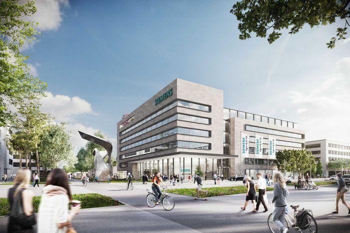 Visualisierung des Siemens Campus Erlangen