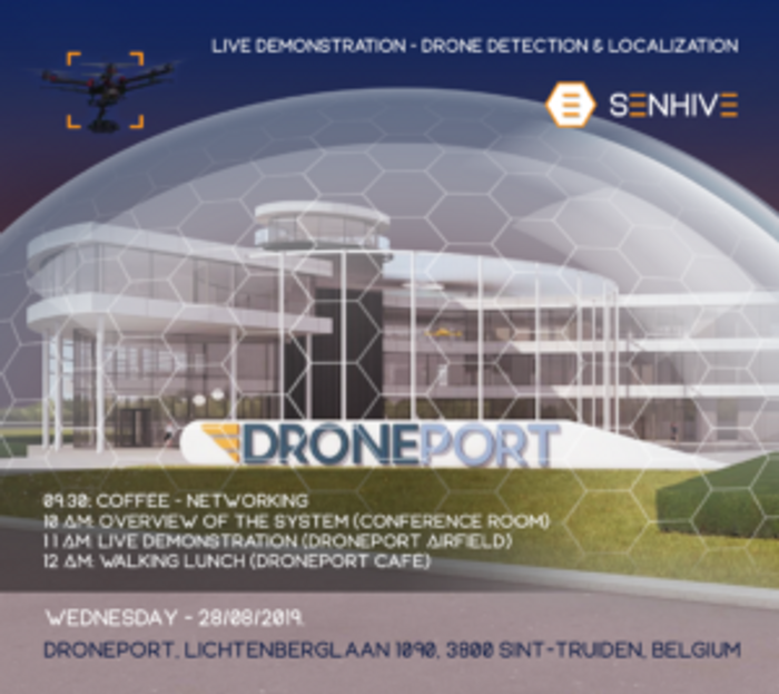 Senhive live demo at Drone Port August 28th 2019