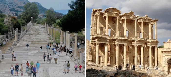 Viajes Albatros - Éfeso - Camino de Mármol y Biblioteca de Celso