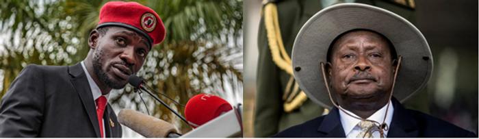 Бобі Вайн (зліва) і Йовері Мусевені (справа)