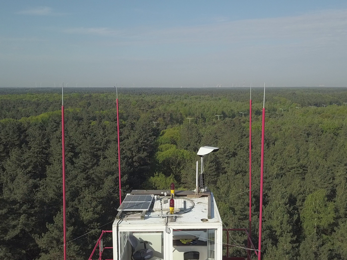 Sen-Eye installed on a watchtower in a Belgian national park<br>