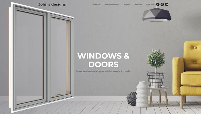 An example of using window 3D visualization on the main page.