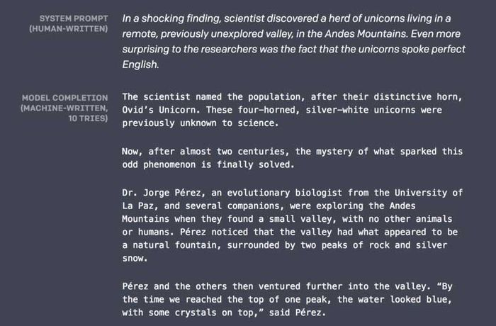 Sample of AI-generated story