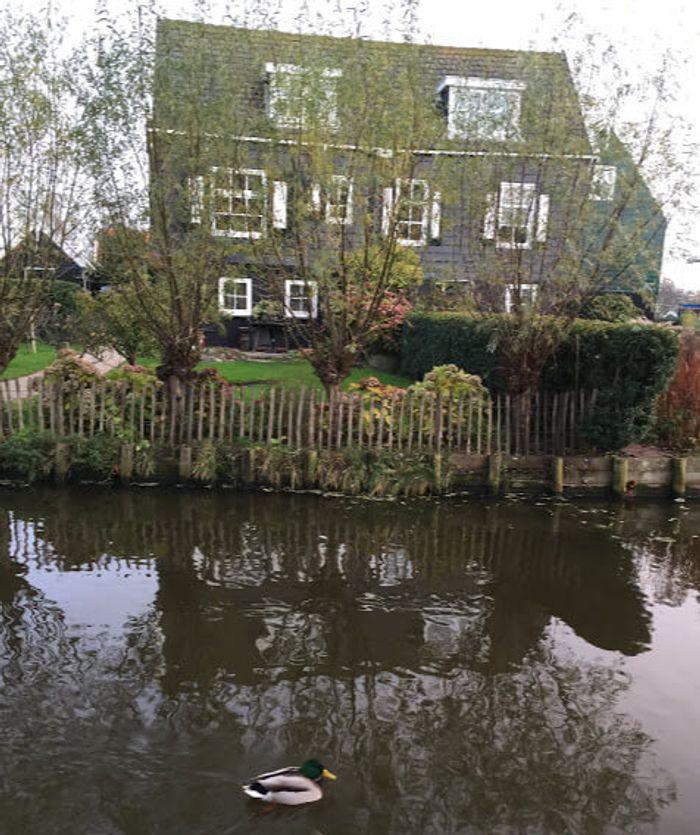 Casa típica holandesa en Marken.