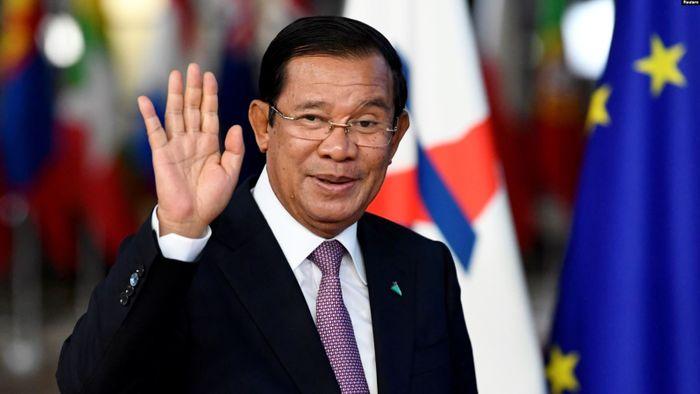 Прем'єр-міністр Камбоджі Гун Сен прибуває на саміт форуму «Азія – Європа» в Брюсселі, Бельгія 18 жовтня 2018 року.