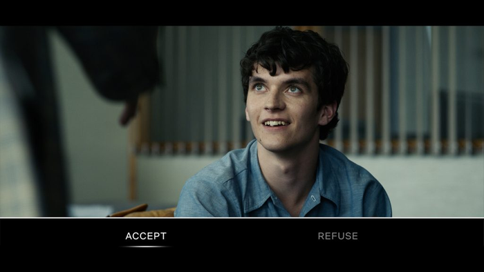 Movie frame from Black Mirror: Bandersnatch by Netflix