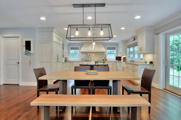 A designated in-kitchen eating table pictured. Make sure there is at least 5 feet of clearance behind the island.