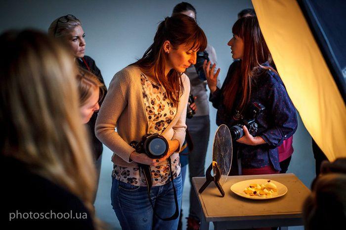 На обучении по фуд-фото в Киевской школе фотографии, 2016 год