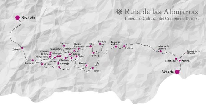 Mapa de la Ruta de las Alpujarras