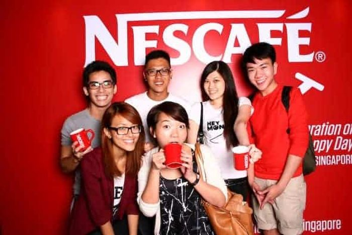 Awesome photowall! Nescafe Roadshow Road show Emcee Singapore