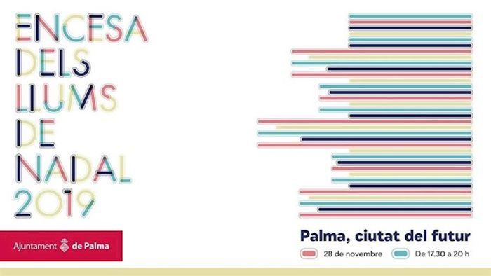 Официальный плакат мероприятий по зажиганию рождественской иллюминацииAYTO. DE PALMA