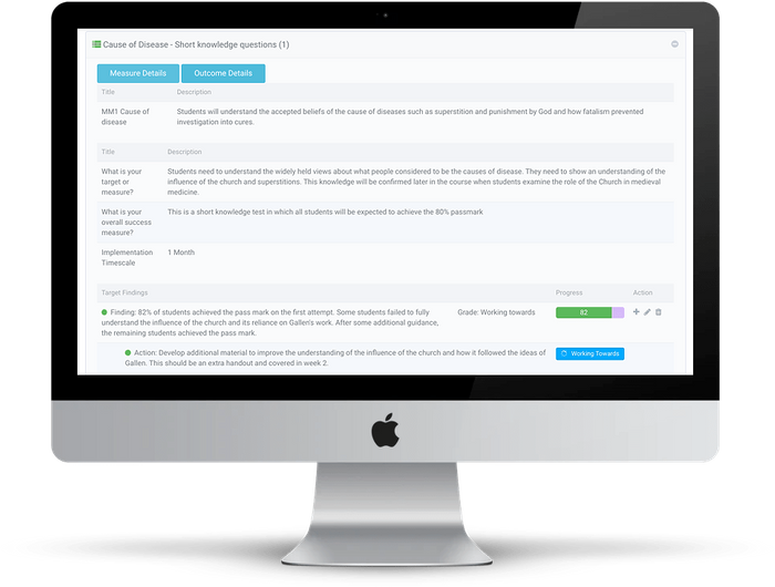 Stedfast provides clear visibility of the changes and improvements that are needed